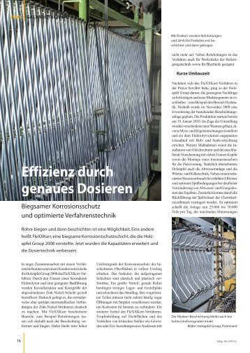 mo Magazin für Oberflächentechnik Ausgabe 6 ... - Holzapfel Group