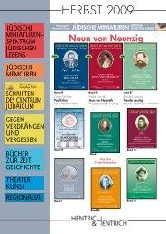 Katalog Herbst 2009 - Verlag Hentrich & Hentrich