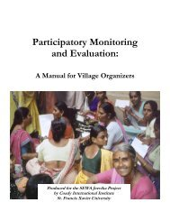 Participatory Monitoring and Evaluation: - Coady International ...