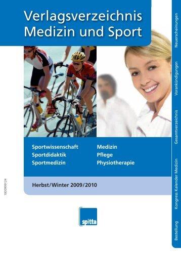 Verlagsverzeichnis Medizin und Sport - Spitta Medizin