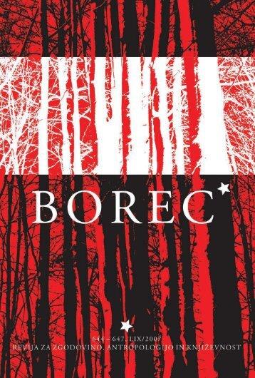 borec 639–643 revija za zgodovino, antropologijo in književnost