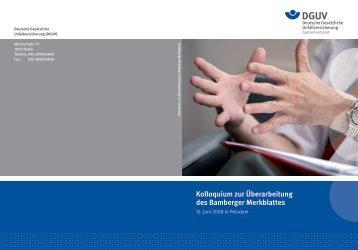 Bamberger Merkblatt - Deutsche Gesetzliche Unfallversicherung