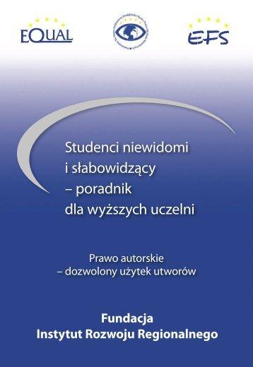 Prawo autorskie - dozwolony użytek utworów - Fundacja Instytut ...