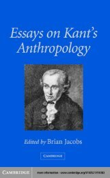 Essays on Kant's Anthropology - Additional Information
