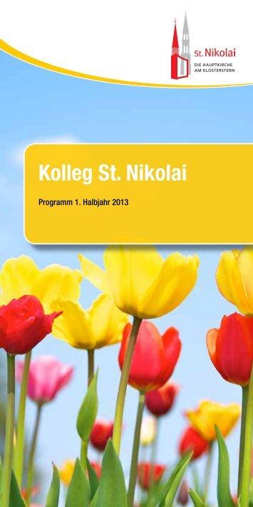 Programmheft Kolleg St. Nikolai 1. Halbjahr 2013 - Hauptkirche St ...