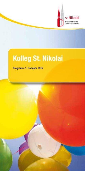Programmheft Kolleg St. Nikolai 1. Halbjahr 2012 - Hauptkirche St ...