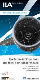 ILA Berlin Air Show 2012 The focal point of aerospace nie ILA 2012 ...
