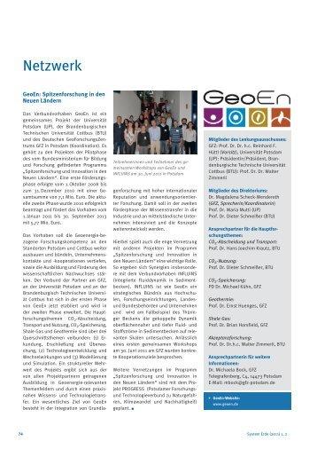 Netzwerk - E-Books Deutsches GeoForschungsZentrum GFZ