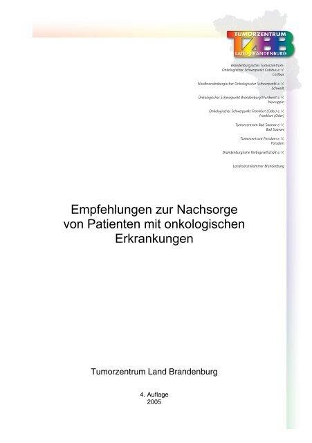 Empfehlungen zur Nachsorge - Tumorzentrum Land Brandenburg