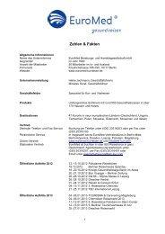 Zahlen & Fakten - Euromed Beratungs