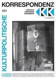 Ausgabe 1311 als PDF zum Download - Kulturportal West Ost