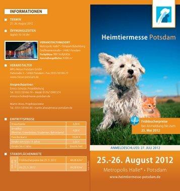 Ausstellerfolder - Heimtiermesse Potsdam