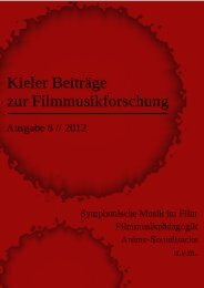 Download Kieler Beiträge zur Filmmusikforschung 8, Juli 2012