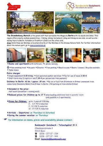 Hotel Haus am Werlsee (PDF - Forces canadiennes en Europe