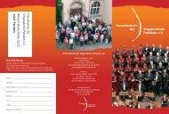 Flyer des Freundeskreises - Singakademie Potsdam