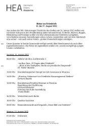 Berlin Reise zu Friedrich - Hermann Ehlers Akademie