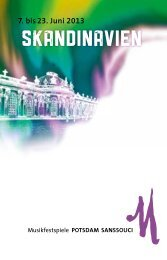 Programmheft als PDF (ca. 5MB) - Musikfestspiele Potsdam Sanssouci