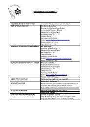 Contact Information Sheet