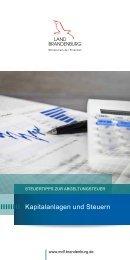 Steuertipps zur Abgeltungsteuer - Ministerium der Finanzen ...