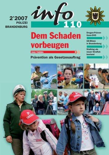 Dem Schaden vorbeugen - Polizei Brandenburg - Land Brandenburg