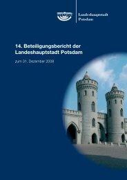 14. Beteiligungsbericht der Landeshauptstadt Potsdam