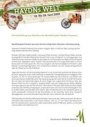 Resümee Musikfestspiele Potsdam Sanssouci 2009 (PDF)