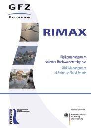 RIMAX - Risikomanagement extremer Hochwasserereignisse / Risk ...