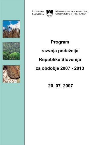 Program razvoja podeželja RS 2007 - 2013 - PORA, razvojna ...
