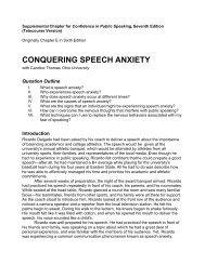 Conquering Speech Anxiety - Roxbury Publishing Company