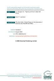Google, Inc. - Greenleaf Publishing