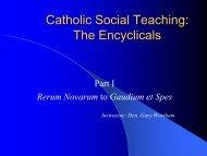 An outstanding presentation on Catholic social teaching
