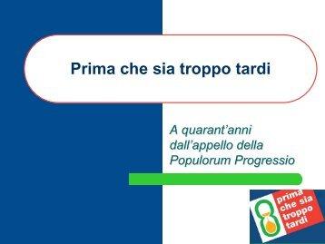la grande distribuzione Prima che sia troppo tardi - Caritas Italiana