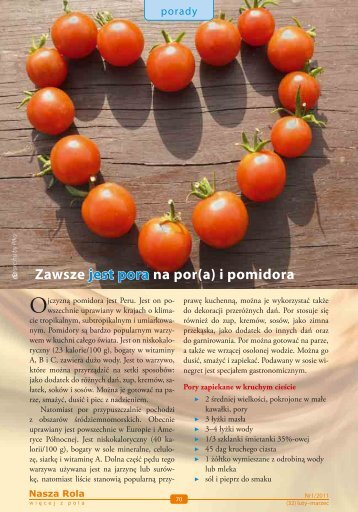 Zawsze jest pora na por(a) i pomidora - Nasza Rola