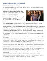 Wiona Porath -Outstanding Adviser Awards - The University of Toledo