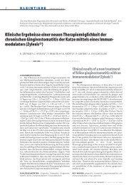 Klinische Ergebnisse einer neuen Therapiemöglichkeit der ...