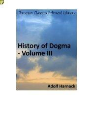History of Dogma - Volume III - The Knowledge Den