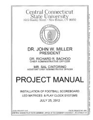 Project Manual - Central Connecticut State University