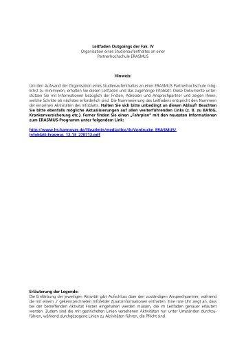 Mobilitätszuschuss beantragen - Fakultät IV - Hochschule Hannover