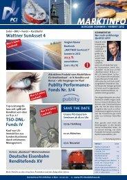 Marktinfo Sommer/Herbst 2012 - Porath Consult