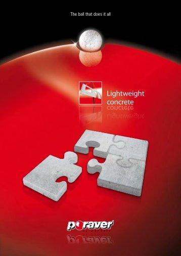 Lightweight concrete Lightweight concrete - Poraver