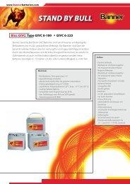 Folder Stand by Bull Givc Bloc D (0.3 - Banner Batterien