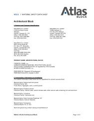 MATERIAL SAFETY DATA SHEET - Atlas Block