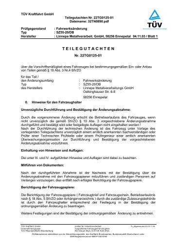 T E I L E G U T A C H T E N - A. Linnepe GmbH