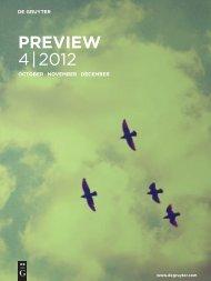 PREVIEW 4 | 2012 - Walter de Gruyter