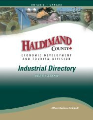 Industrial Directory - Haldimand County