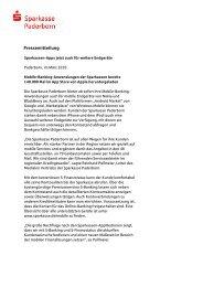 Pressemitteilung - Sparkasse Paderborn