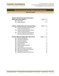 Wood Flooring International's Material Safety Data Sheets Section ...