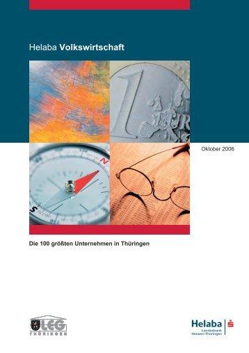 Helaba Volkswirtschaft - Technologie Thüringen