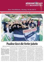 Die Pressemeldung als PDF-Download. - Strenge-Cup 2012