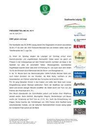 Pressemitteilung 94 - SC DHfK Leipzig eV